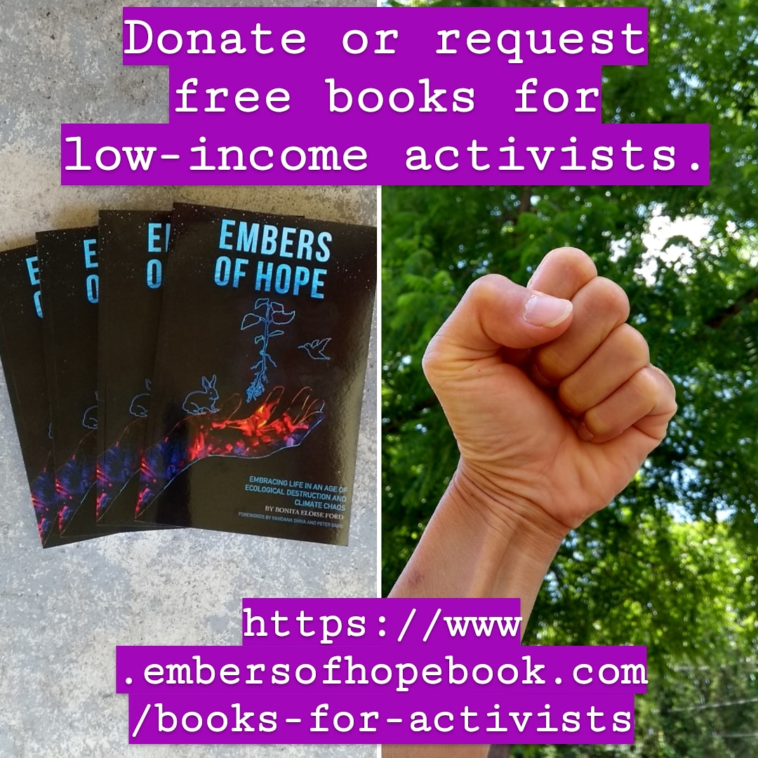Embers of Hope, free books for low-income activists