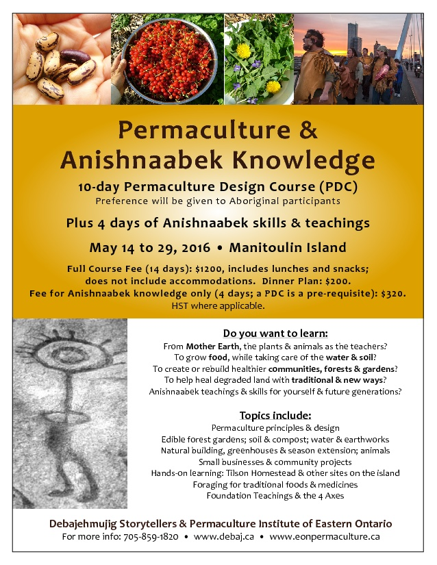Permaculture Design Course plus Anishnaabek skills and knowledge