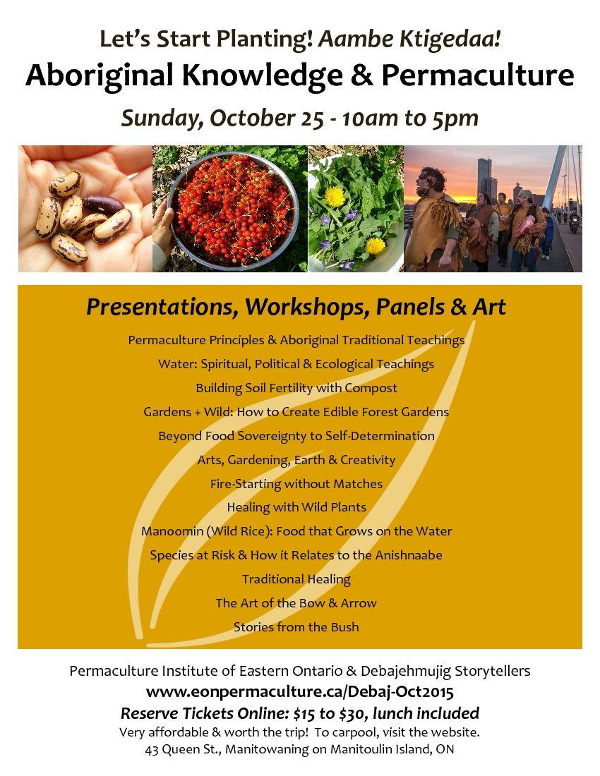 Aboriginal Knowledge & Permaculture Event poster